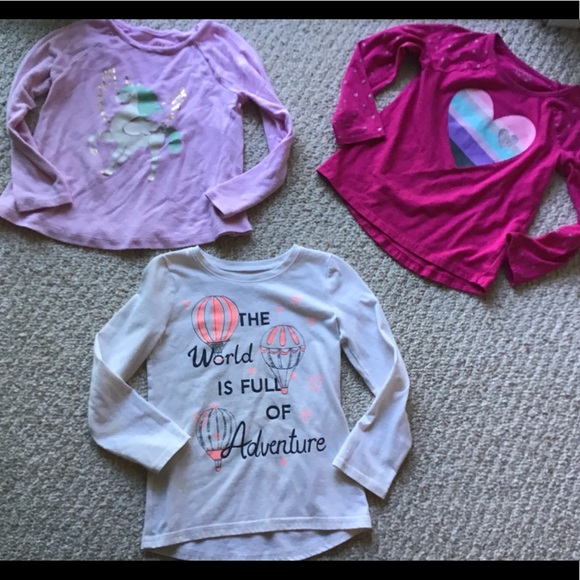 jumping beans Other - 3 girls long sleeve tees
